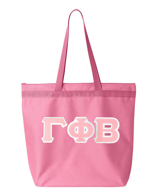 Gamma Phi Beta Greek Lettered Game Day Tote