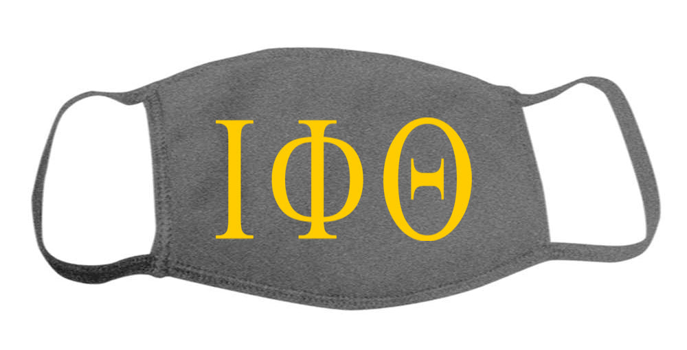 Iota Phi Thertas Face Mask With Big Greek Letters