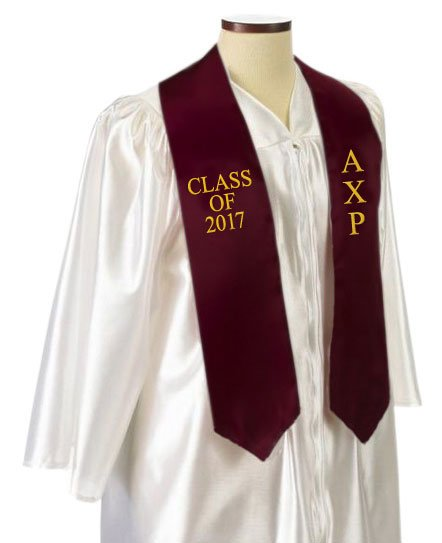 Alpha Chi Rho Classic Colors Embroidered Grad Stole