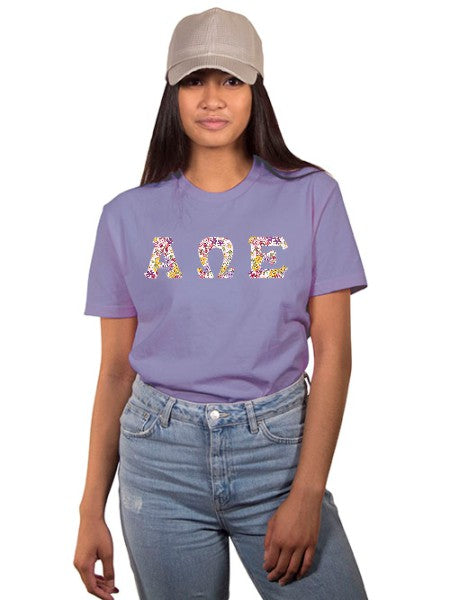 Alpha Omega Epsilon The Best Shirt with Sewn-On Letters