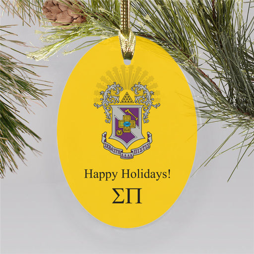 Sigma Pi Color Crest Ornament