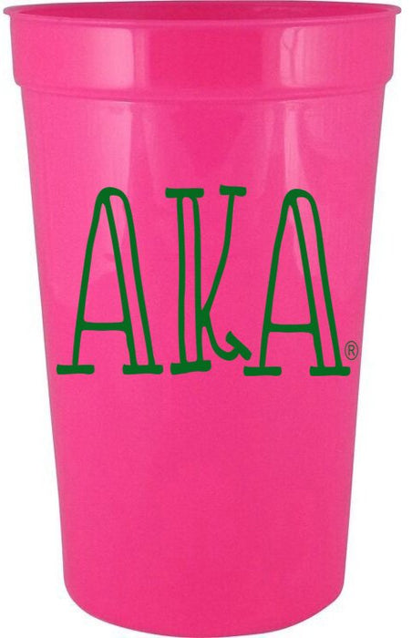 Alpha Kappa Alpha Inline Giant Plastic Cup