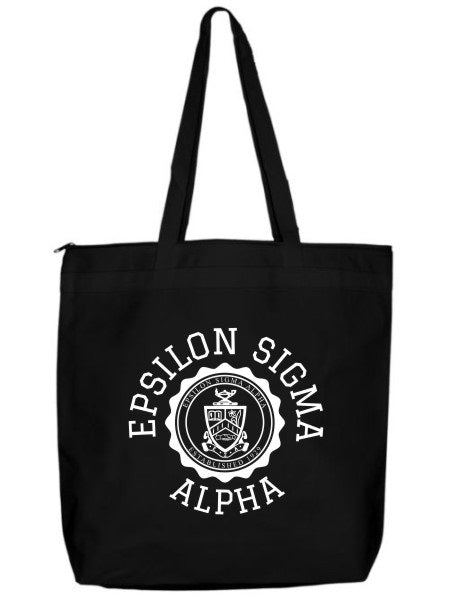 Epsilon Sigma Alpha Crest Seal Tote Bag