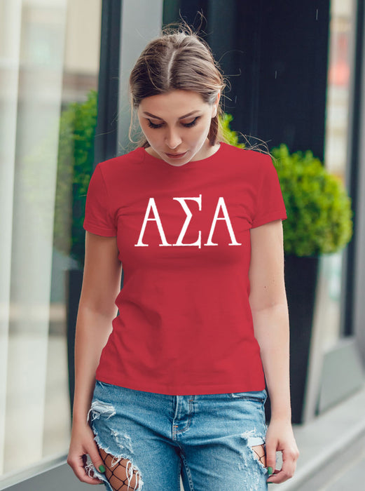 Alpha Sigma Alpha University Letter T-Shirt