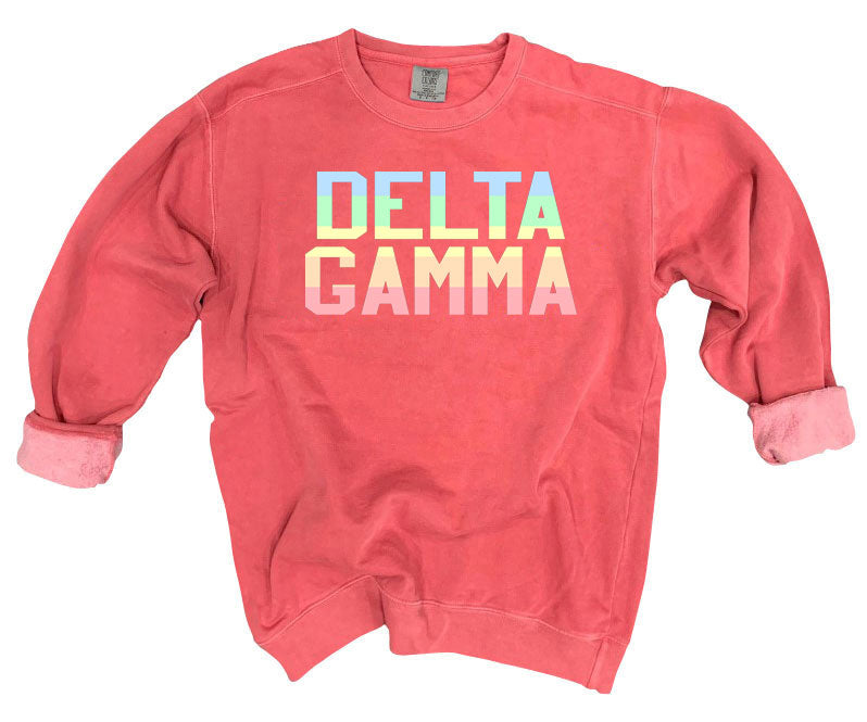 Delta Gamma Comfort Colors Pastel Sorority Sweatshirt