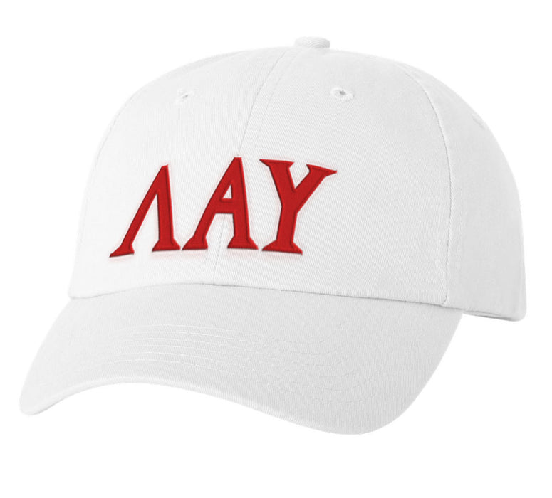 Lambda Alpha Upsilon Greek Letter Embroidered Hat