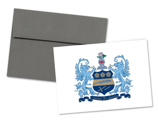 Alpha Xi Delta Sorority Crest Note Cards