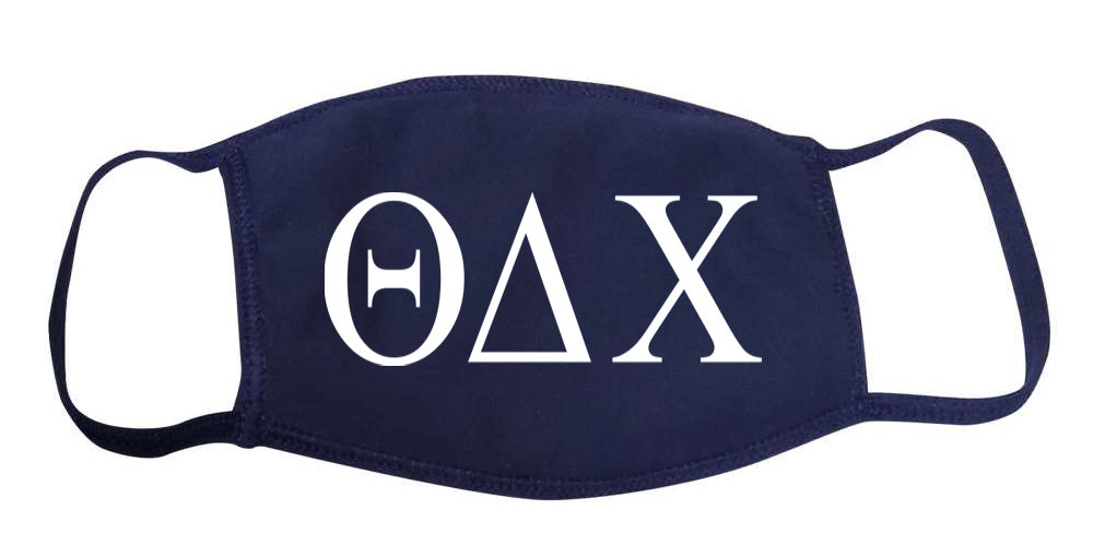 Theta Delta Chi Face Mask With Big Greek Letters