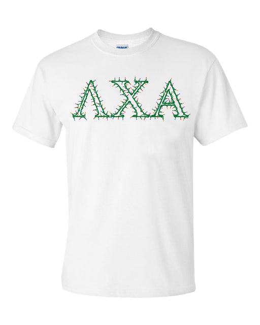 Lambda Chi Alpha Holiday Lights Crew Tee