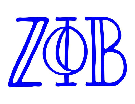 Zeta Phi Beta Inline Greek Letter Sticker - 2.5