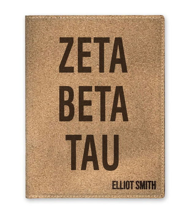 Zeta Beta Tau Cork Portfolio with Notepad