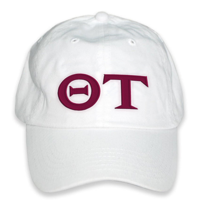 Theta Tau Greek Letter Embroidered Hat