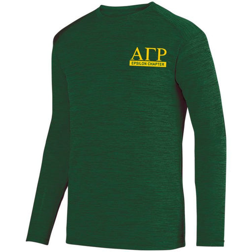 Alpha Gamma Rho $20 World Famous Dry Fit Tonal Long Sleeve Tee