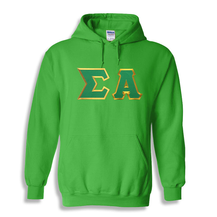 Sigma Alpha Lettered Hoodie