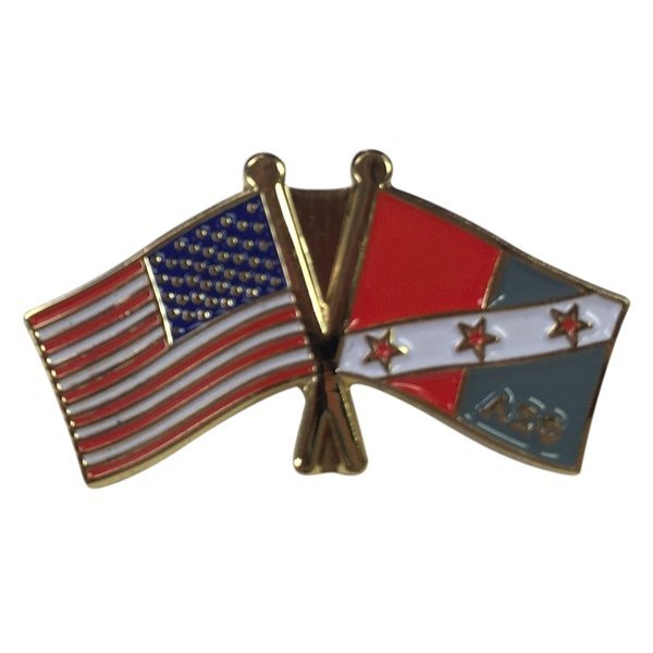 Alpha Sigma Phi USA / Fraternity Flag Pin