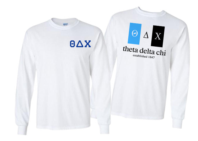 Theta Delta Chi Long Sleeve Flag Tee