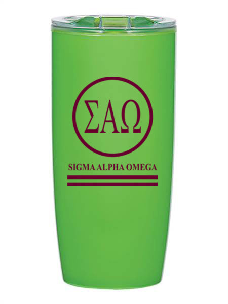 Sigma Alpha Omega Circle Stripes 19 oz Everest Tumbler