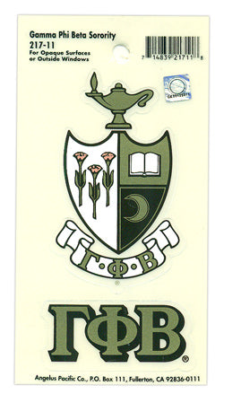 Gamma Phi Beta Crest Decals Crest Decal
