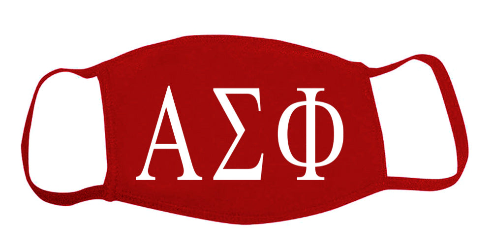 Alpha Sigma Phi Face Mask With Big Greek Letters