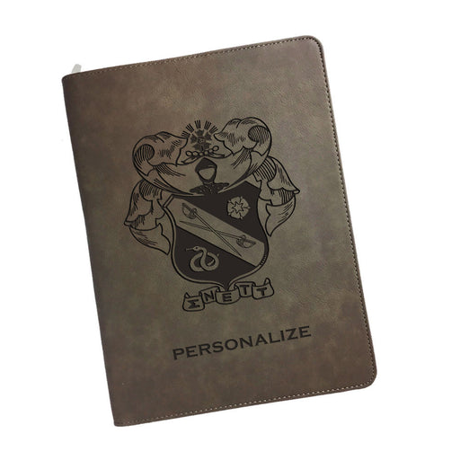 Sigma Nu Leatherette Portfolio with Notepad