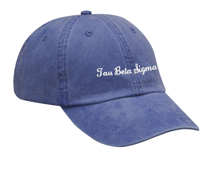 Tau Beta Sigma Cursive Embroidered Hat