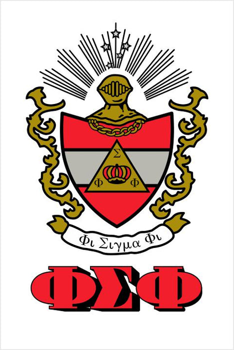 Phi Sigma Phi Crest Window Decals Stickers Crest Decal