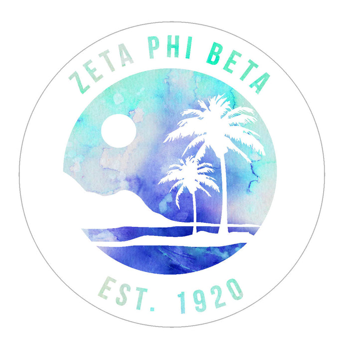 Zeta Phi Beta Oasis Sticker
