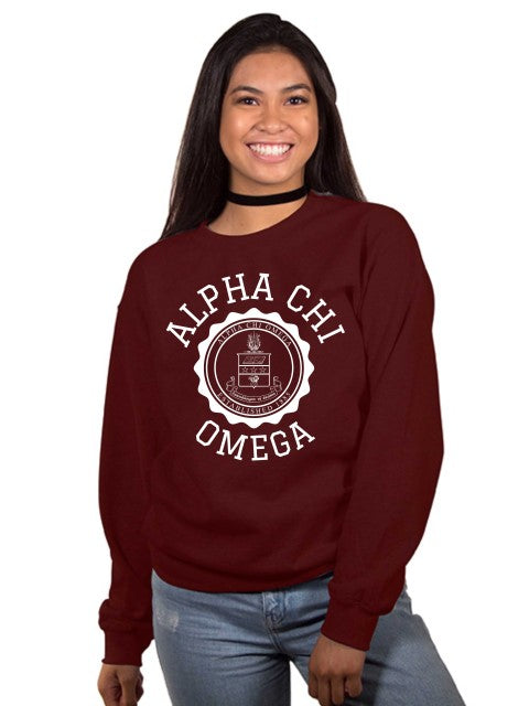 Sorority Crest Crew Neck Sweatshirt
