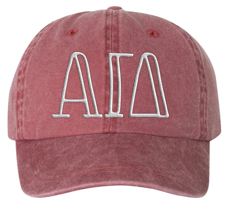 Alpha Gamma Delta Sorority Greek Carson Embroidered Hat