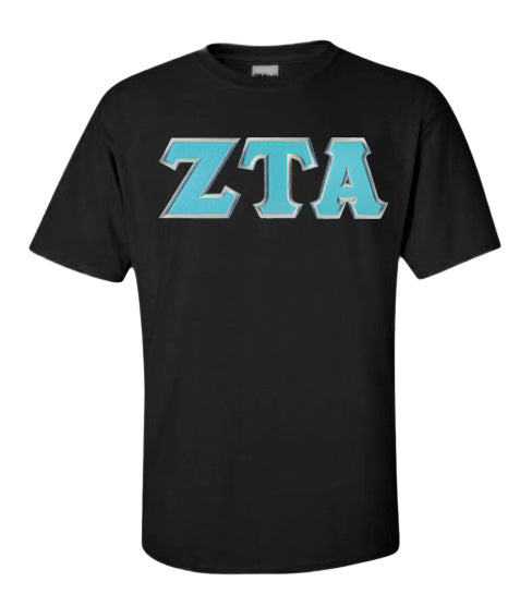 Zeta Tau Alpha Lettered T Shirt