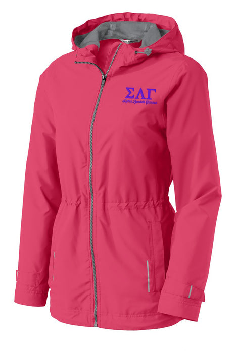 Sigma Lambda Gamma Embroidered Ladies Northwest Slicker