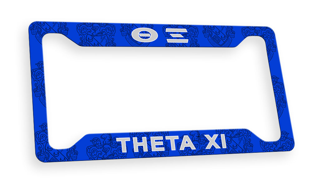 Theta Xi New License Plate Frame