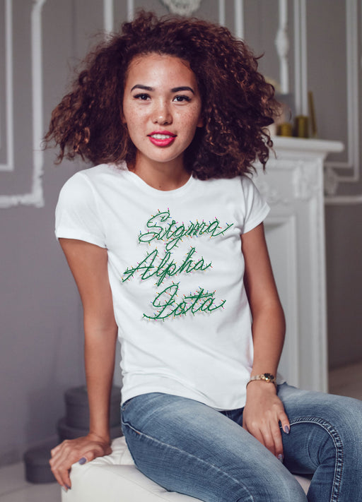 Sigma Alpha Iota Holiday Lights Crew Tee