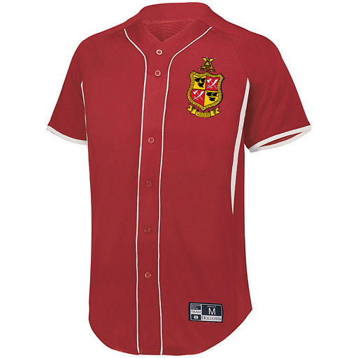 Delta Chi 7 Full Button Baseball Jersey