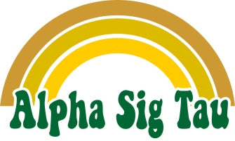 Alpha Sigma Tau End of The Rainbow Sorority Decal