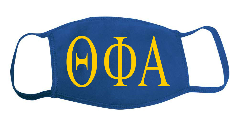 Theta Phi Alpha Face Mask With Big Greek Letters