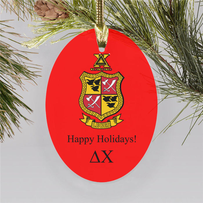 Delta Chi Color Crest Ornament
