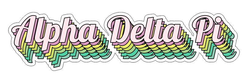 Alpha Delta Pi New Hip Stepped Sticker