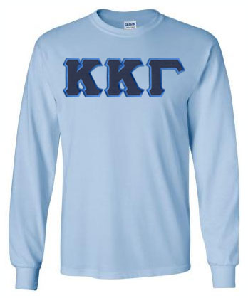 Kappa Kappa Gamma Long Sleeve Greek Lettered Tee