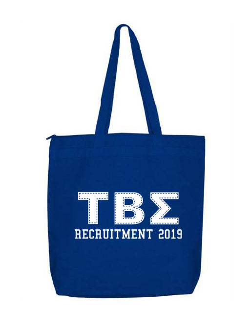 Tau Beta Sigma Collegiate Letters Event Tote Bag