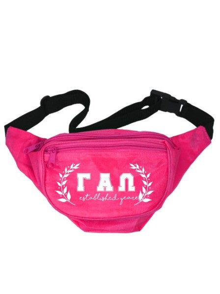 Gamma Alpha Omega Laurel Fanny Pack