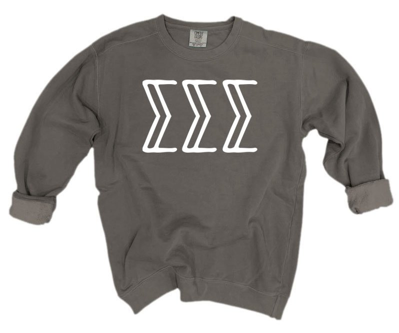 Sigma Sigma Sigma Comfort Colors Greek Letter Sorority Crewneck Sweatshirt
