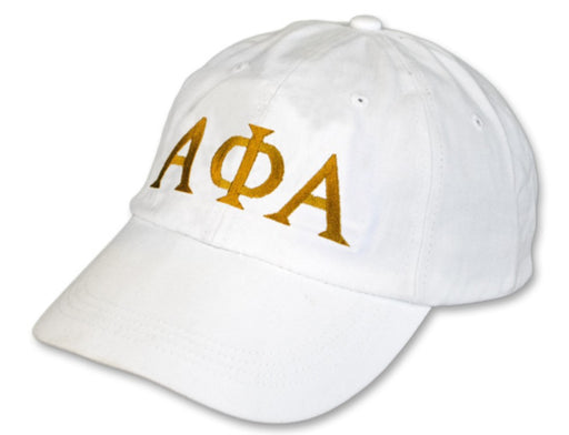 Alpha Phi Alpha Greek Letter Embroidered Hat