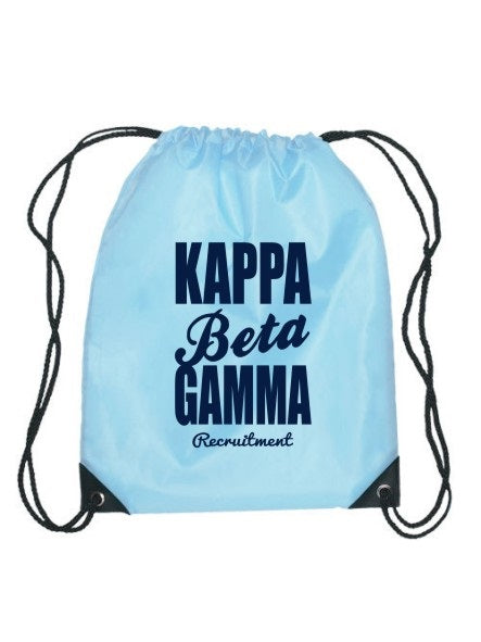 Kappa Beta Gamma Cursive Impact Sports Bag