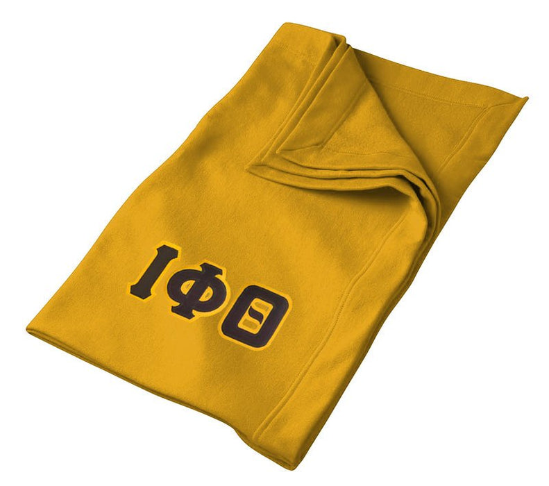 Iota Phi Theta Greek Twill Lettered Sweatshirt Blanket