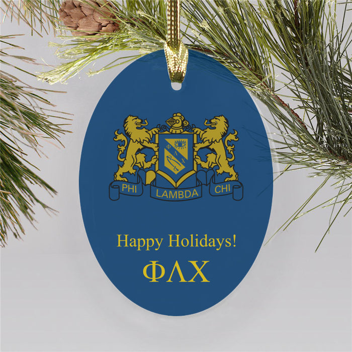 Phi Lambda Chi Color Crest Ornament