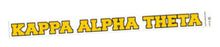 Kappa Alpha Theta Back Of The Window Long Sticker