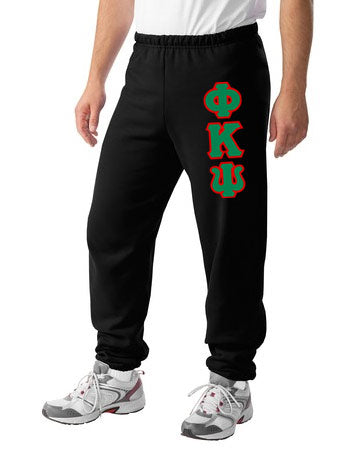 Phi Kappa Psi Sweatpants with Sewn-On Letters