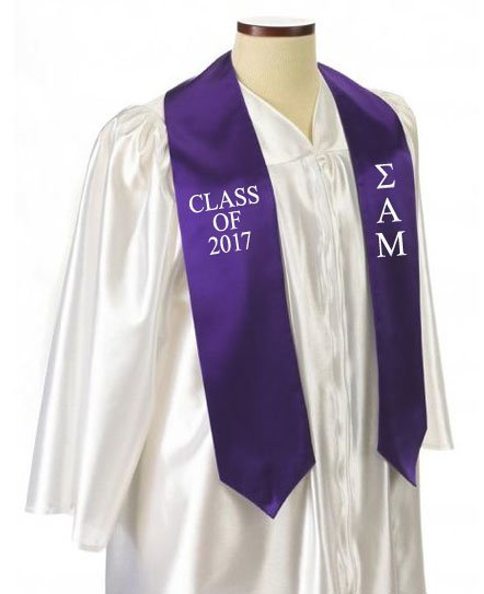 Sigma Alpha Mu Classic Colors Embroidered Grad Stole