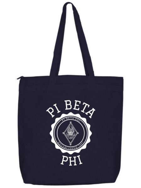 Pi Beta Phi Crest Seal Tote Bag